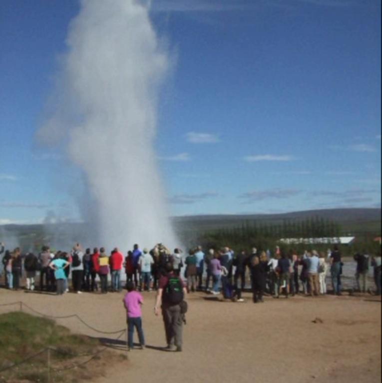 Geysir Explosion Iceland