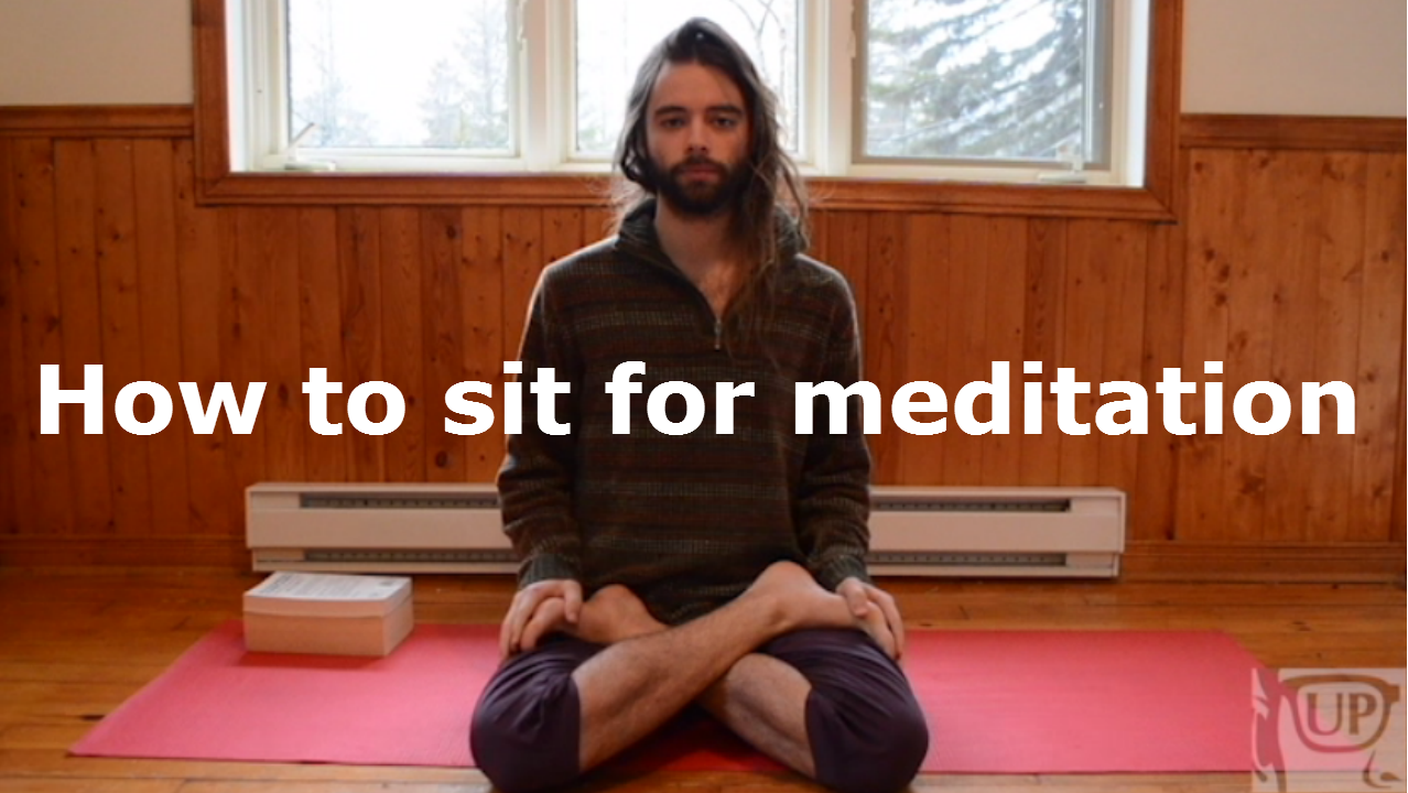 how to keep back straight while meditating